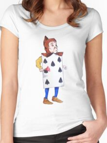 The 7 of Spades  Women's Fitted Scoop T-Shirt