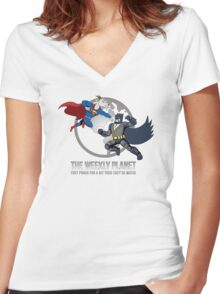 They Punch For A Bit Then They're Mates Women's Fitted V-Neck T-Shirt
