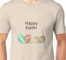 Cute Adorable Colorful Vibrant Festive Eggs Happy Easter Unisex T-Shirt