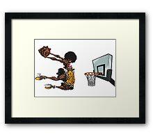 basketball#dunk Framed Print