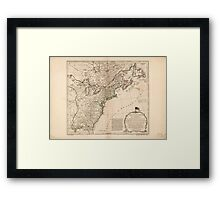 American Revolutionary War Era Maps 1750-1786 949 The United States of America with the British possessions of Canada Nova Scotia New Brunswick and Framed Print