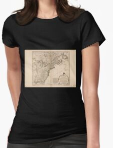 American Revolutionary War Era Maps 1750-1786 949 The United States of America with the British possessions of Canada Nova Scotia New Brunswick and Womens Fitted T-Shirt