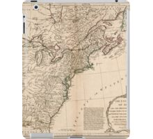 American Revolutionary War Era Maps 1750-1786 949 The United States of America with the British possessions of Canada Nova Scotia New Brunswick and iPad Case/Skin