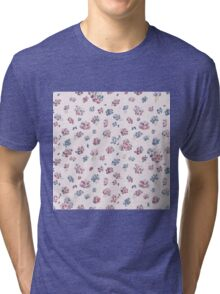 Roses, Roses (red & blue) Tri-blend T-Shirt