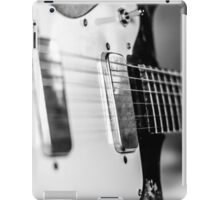 Vintage Guitar in Black and White iPad Case/Skin