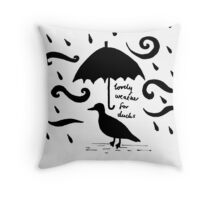Lovely Weather for Ducks Throw Pillow