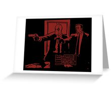 Dead Fiction - Red #3 Greeting Card