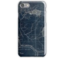 204 Map showing location c of Middleton coal lands Fayette County W Va Inverted iPhone Case/Skin