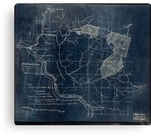 204 Map showing location c of Middleton coal lands Fayette County W Va Inverted Canvas Print