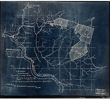 204 Map showing location c of Middleton coal lands Fayette County W Va Inverted Photographic Print