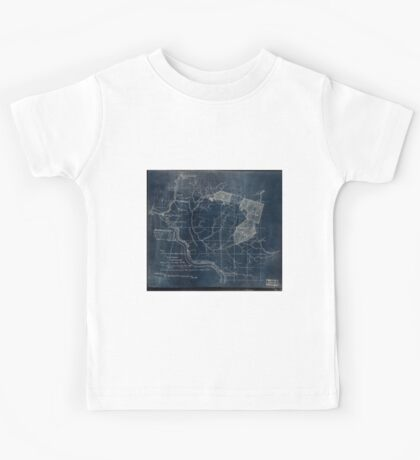 204 Map showing location c of Middleton coal lands Fayette County W Va Inverted Kids Tee