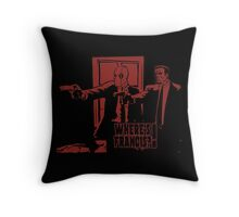 Dead Fiction - Red #4 Throw Pillow