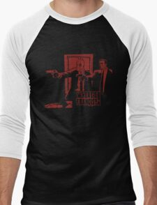Dead Fiction - Red #4 Men's Baseball ¾ T-Shirt