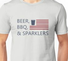 Beer,bbq&sparklers Unisex T-Shirt
