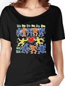 Keith Haring Love Dance Women's Relaxed Fit T-Shirt