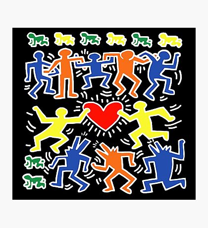 Keith Haring Love Dance Photographic Print