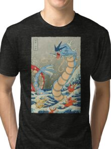 The Great Wave II Tri-blend T-Shirt