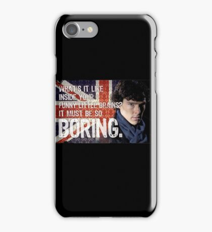 Sherlock Union Jack Quote iPhone Case/Skin