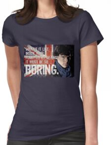Sherlock Union Jack Quote Womens Fitted T-Shirt