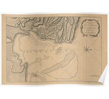American Revolutionary War Era Maps 1750-1786 311 An authentic plan of the town and harbour of Cap François in the isle of St Domingo Poster
