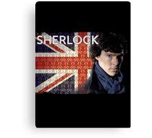 Sherlock Union Jack Canvas Print