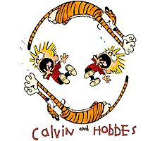 Calvin And Hobbes Photographic Print