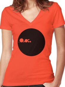 Vastness minimalism Women's Fitted V-Neck T-Shirt