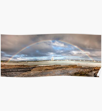 Rainbow Over Surfers Paradise Poster