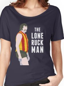 The Lone Ruckman - red/gold Women's Relaxed Fit T-Shirt