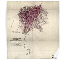 117 A topographical map of the lands of the Cabin Creek Coal Co of W Virginia embracing 14 307 acres in Kanawha and Boone counties West Virginia Poster