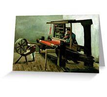 1884-Vincent van Gogh-Weaver-62,5x84,4 Greeting Card