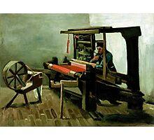 1884-Vincent van Gogh-Weaver-62,5x84,4 Photographic Print