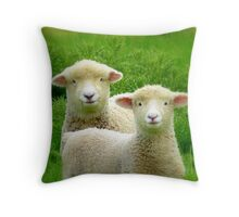 The Red Bubble Definition of Cute! - Lambs - NZ Throw Pillow