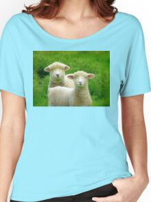 The Red Bubble Definition of Cute! - Lambs - NZ Women's Relaxed Fit T-Shirt