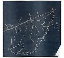 138 Dr Hales map of Cabin Creek lands Inverted Poster