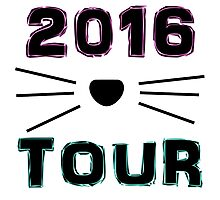 Dan and Phil NEW TOUR 2016 MERCH CAT WHISKERS! Photographic Print