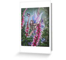 The foxglove fairy Greeting Card