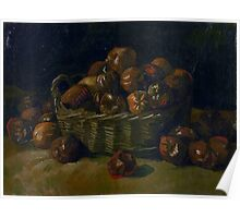 1885-Vincent van Gogh-Basket of apples Poster