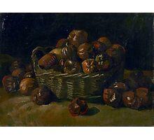 1885-Vincent van Gogh-Basket of apples Photographic Print