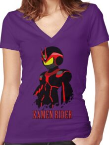kamenrider Women's Fitted V-Neck T-Shirt