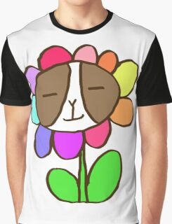 Frenchie Rainbow Flower Graphic T-Shirt