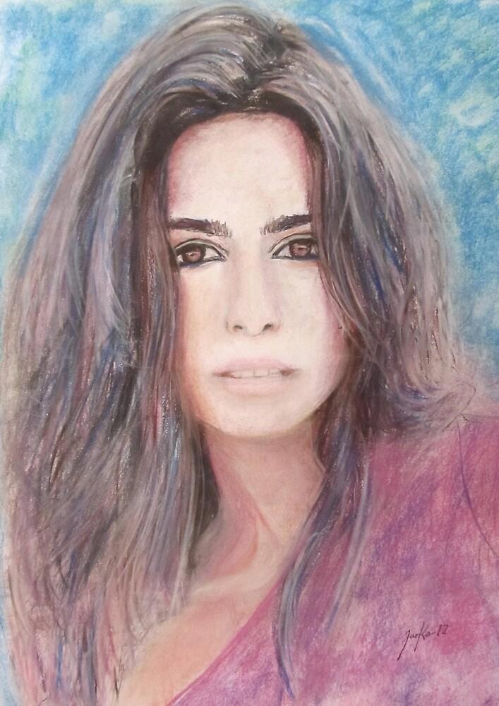 Portrait of Sandra Falga by Jarmo Korhonen