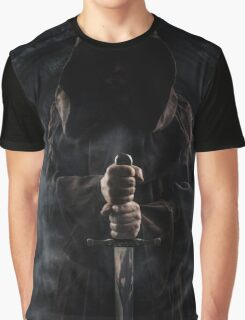 Hooded man with big sword Graphic T-Shirt