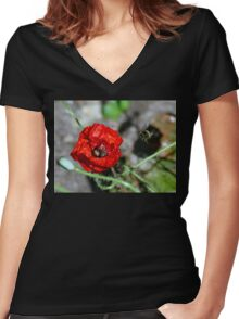 The Bumble & The Poppy - NZ Women's Fitted V-Neck T-Shirt