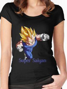 Super Saiyan VEGETA Women's Fitted Scoop T-Shirt
