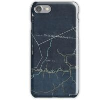 106  Survey of a tract of 9 138 acres of coal lands on the New River in Raleigh County West Virginia west of Quinnimont Inverted iPhone Case/Skin