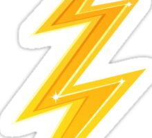 Golden yellow double lightning bolt Sticker