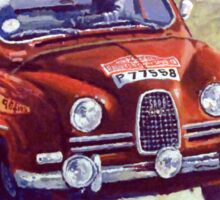 1963 SAAB 96 #283 Rallye Monte Carlo Carlsson Palm winner  Sticker