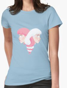 Ice cream hair Womens Fitted T-Shirt