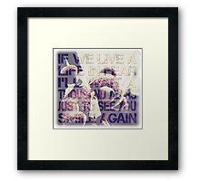 Muse resistance Framed Print